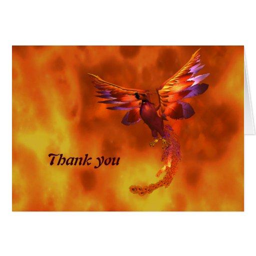 Phoenix le agradece cardar tarjeta pequeña