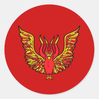 Phoenix - libro de monstruos - Grecia antigua Pegatina Redonda