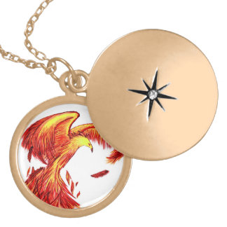 Phoenix Locket Necklace