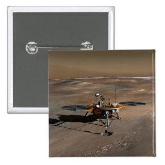 Phoenix Mars Lander 2 2 Inch Square Button