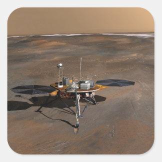 Phoenix Mars Lander 3 Square Sticker