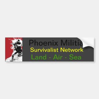 Phoenix Militia  Land - Air - Sea Car Bumper Sticker