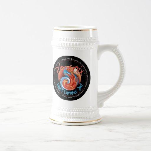 Phoenix Mission Patch Beer Stein