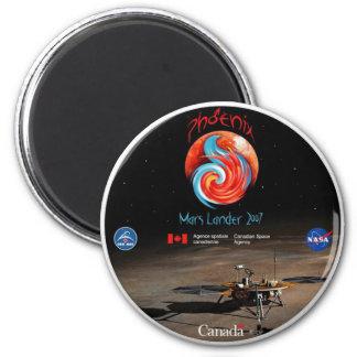 Phoenix Mission Patch CSA 2 Inch Round Magnet