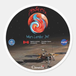 Phoenix Mission Patch CSA Classic Round Sticker