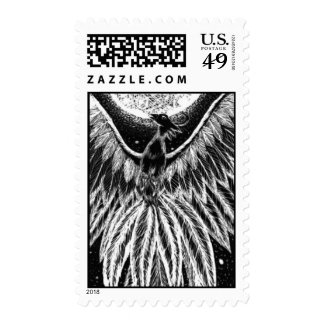 Phoenix of the night sky postage stamp