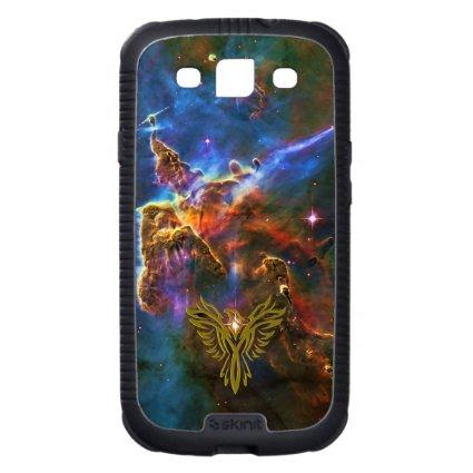 Phoenix on Space Carina Nebula - universe backdrop Samsung Galaxy S3 Covers