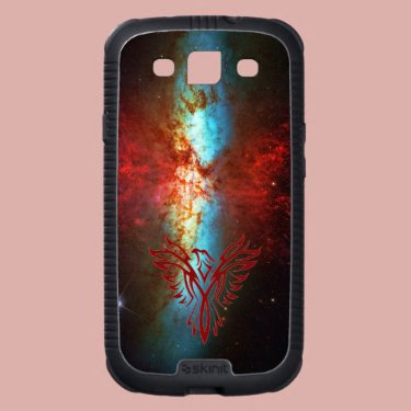 Phoenix on Space Star-burst Galaxy Nebula backdrop Galaxy SIII Cases