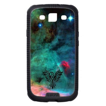 Phoenix on Space's Swan Nebula backdrop Galaxy S3 Covers