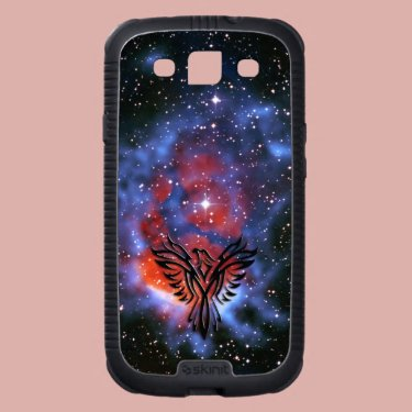 Phoenix on Star Nursery in Space universe backdrop Samsung Galaxy S3 Case