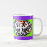 Phoenix on Triple Spiral Oval Coffee Mug