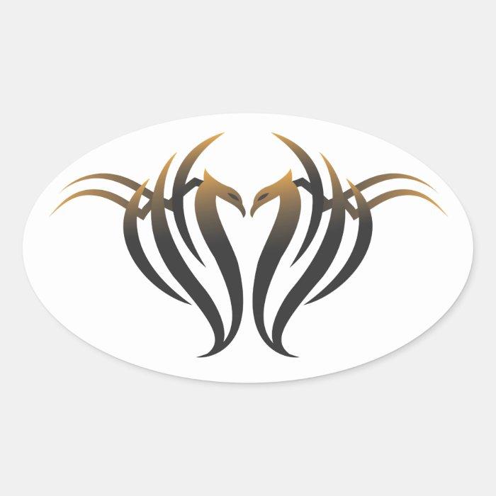 Phoenix Oval Sticker
