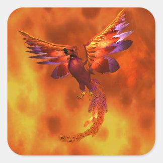 Phoenix Pegatina Cuadrada