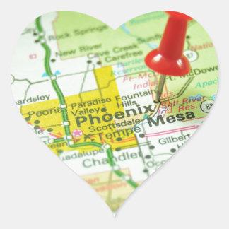 Phoenix Pegatina En Forma De Corazón