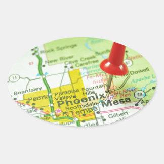 Phoenix Pegatina Ovalada