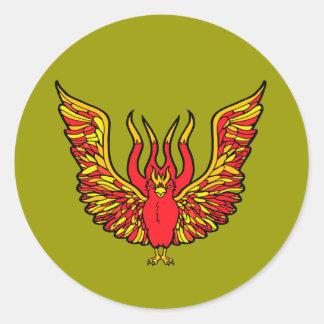 Phoenix Pegatina Redonda