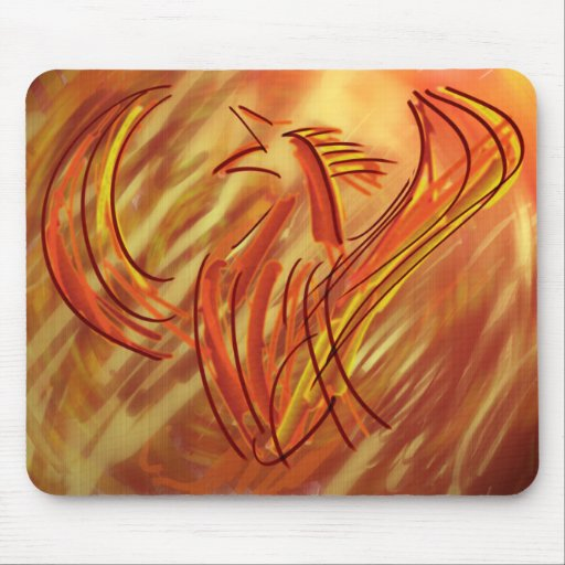 Phoenix pintada Mousepad