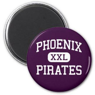 Phoenix - piratas - High School secundaria - Phoen Imán Redondo 5 Cm