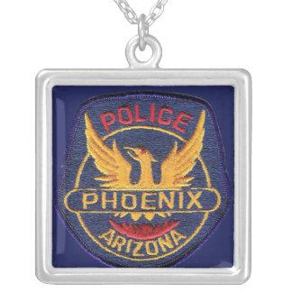 Phoenix Police Department Square Pendant Necklace