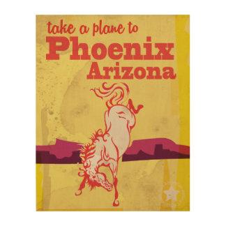 Phoenix, poster del viaje del vintage de Arizona Cuadro De Madera