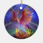 Phoenix que sube alrededor del ornamento ornamento para arbol de navidad