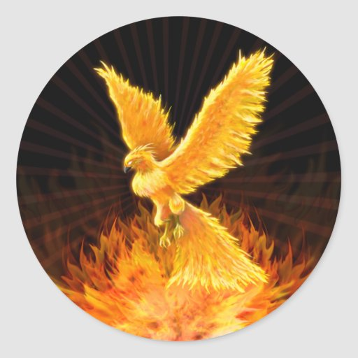 Phoenix que sube - pegatina