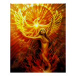 Phoenix que sube por el iris de Lisa Poster
