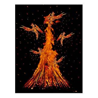 Phoenix Rebirth Postcard