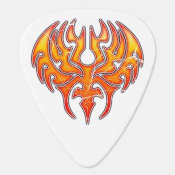 Phoenix Reborn Custom Guitar Pick (worn) by InStock at Zazzle
