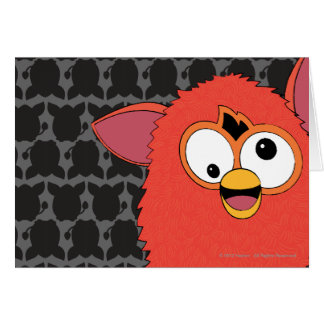 Phoenix Red Furby Greeting Card