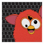 Phoenix Red Furby Poster