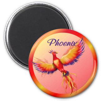 Phoenix Rising 2 Inch Round Magnet
