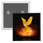 Phoenix Rising 2 Inch Square Button