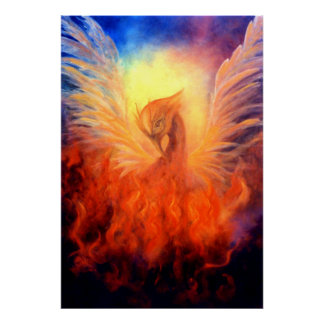 Phoenix Rising Art Print on Canvas