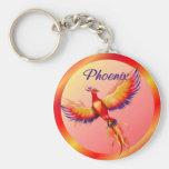 Phoenix Rising Basic Round Button Keychain