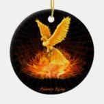 Phoenix Rising Christmas Tree Ornaments