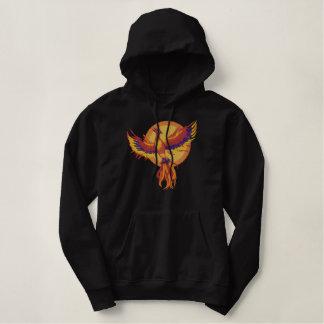 Phoenix Rising Embroidered Hooded Sweatshirt