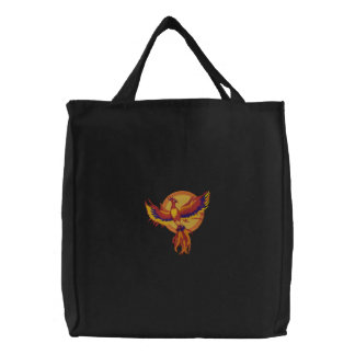 Phoenix Rising Embroidered Tote Bag