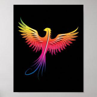 Phoenix rising flame colors poster