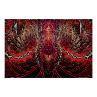 Phoenix Rising Fractal Print