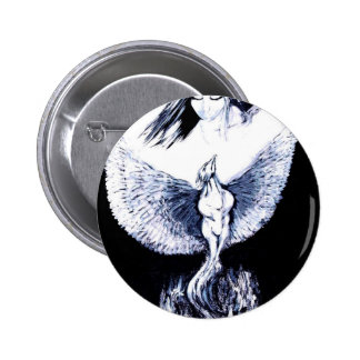 PHOENIX RISING FROM ASHES 2 INCH ROUND BUTTON