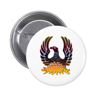 Phoenix Rising From Fire & Ashes Button