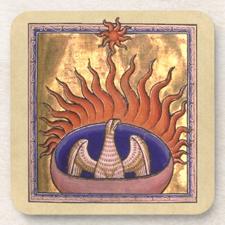 Phoenix Rising from the Ashes Beverage Coaster