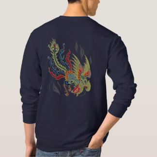 Phoenix Rising From the Ashes Colorful Mythology T T-Shirt