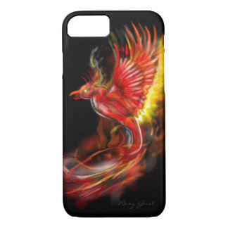 phoenix rising from the ashes graphic artwork iPhone 8/7 case