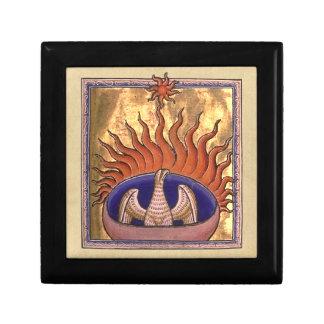 Phoenix Rising from the Ashes Keepsake Box
