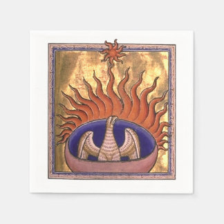 Phoenix Rising from the Ashes Napkin