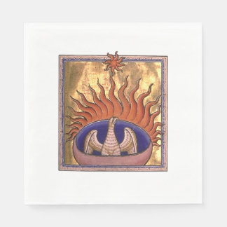 Phoenix Rising from the Ashes Paper Napkin