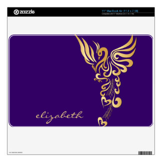 Phoenix Rising Golden Tattoo Mac Air Book Skin Decal For MacBook Air