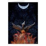 Phoenix Rising greeting card, no frame